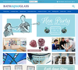 Bath Aqua Glass